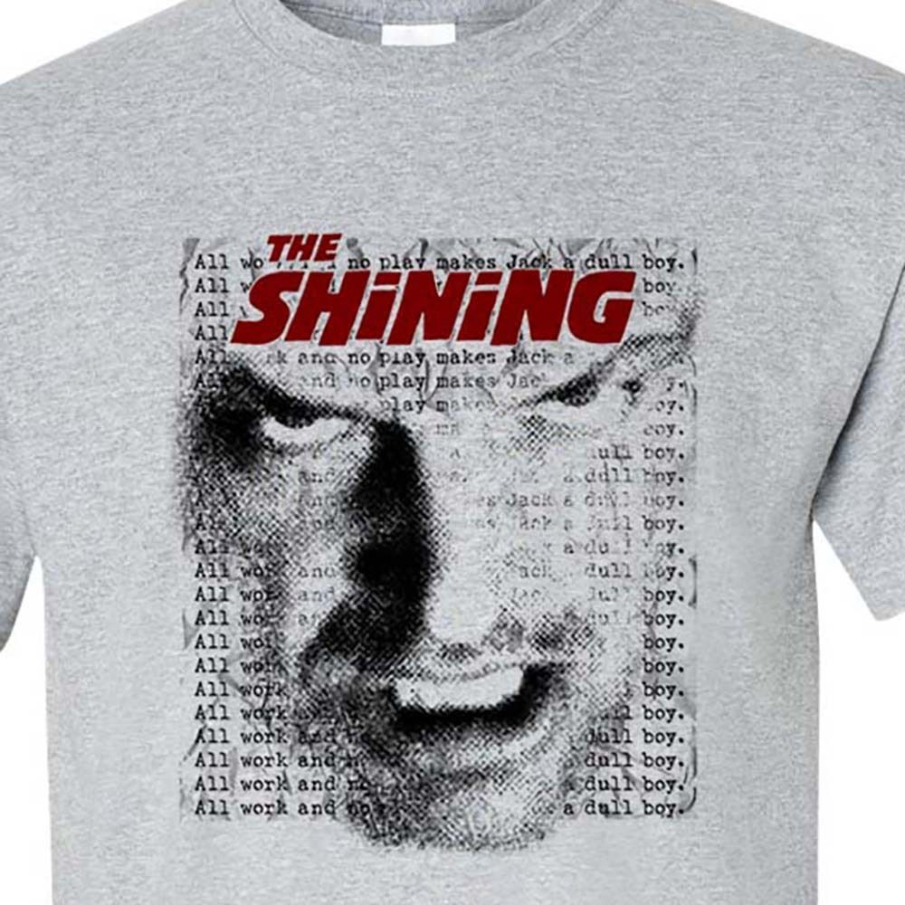 The Shining T Shirt Jack Torrance All Work Stephen King Graphic