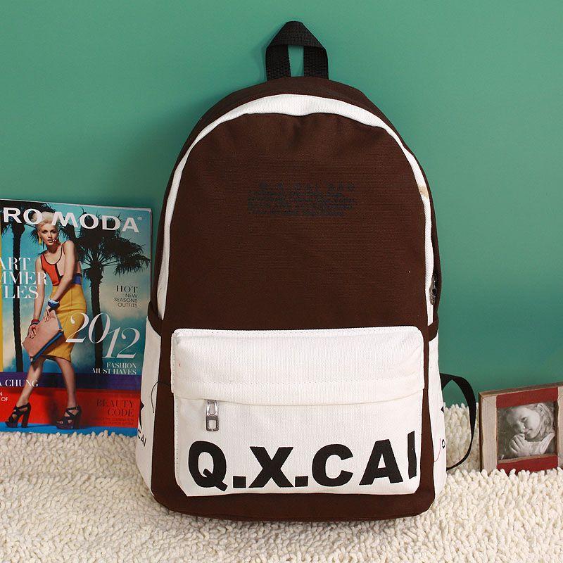Computer bag female backpack middle school students school bag preppy style vintage female canvas backpack