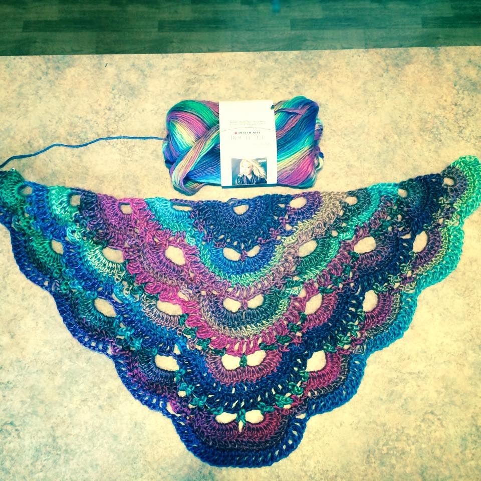Free Crochet Pattern For A Virus Shawl : Virus Shawl patter in Unforgettable Yarn (Stained Glass ...