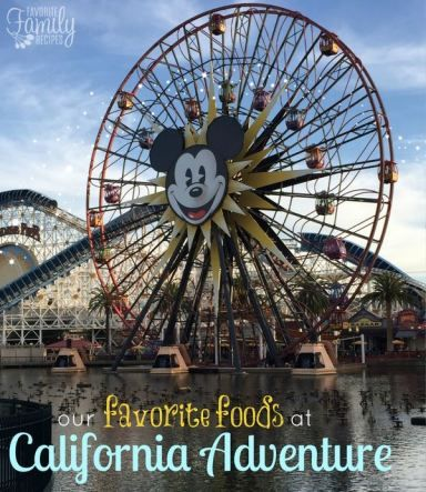 Since it has it's own unique and delicious menus, we decided to make a separate list of our favorite foods at California Adventure.  I love that California Adventure pulled in some amazing restaurants that are locally from California.
