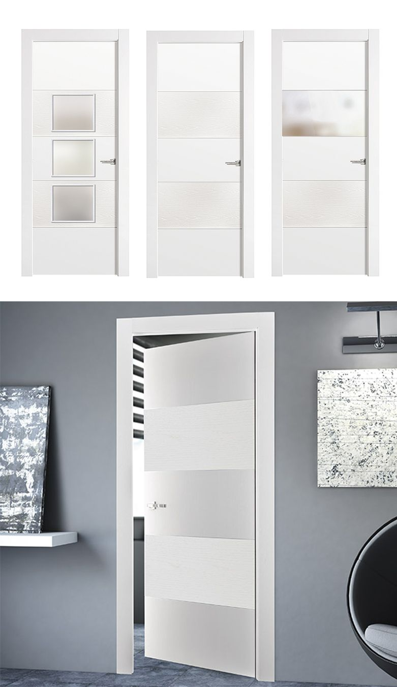 Puerta de interior blanca modelo vael de la serie imagin for Modelos de puertas