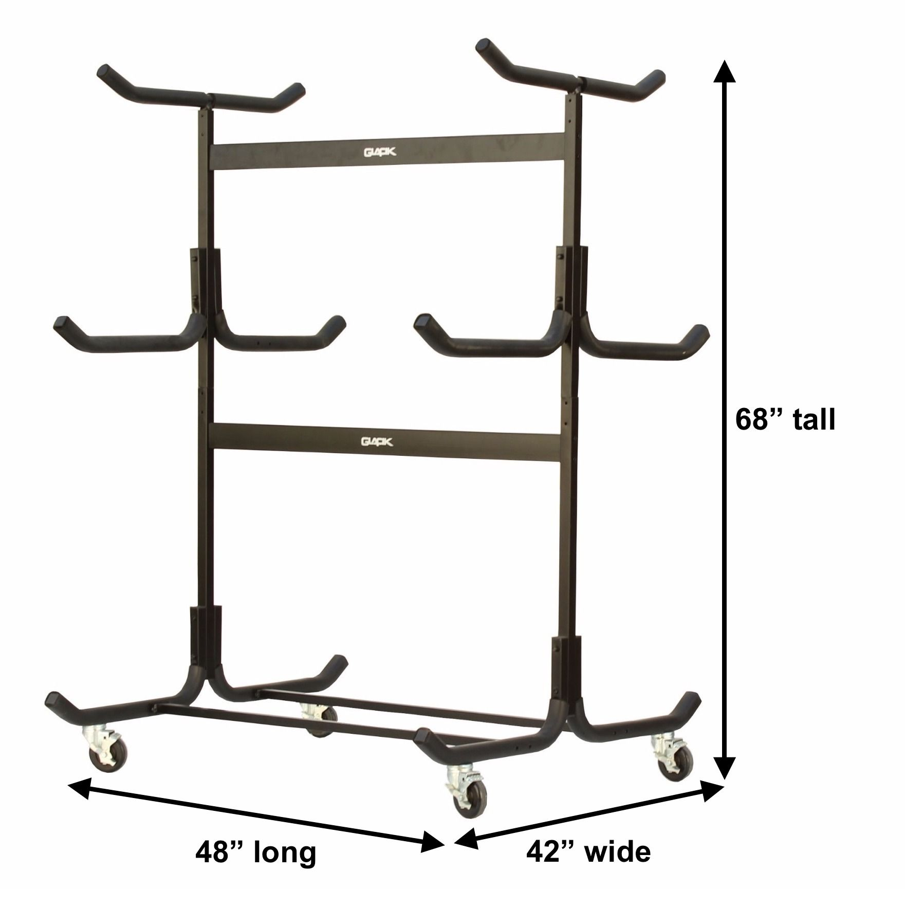 A Steel Freestanding Storage Rack For Kayaks And Canoes Kayak Storage Rack Canoe Storage Kayak Storage