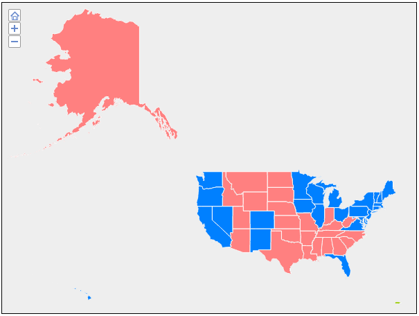Clickable United States Map: Election Map | Interactive HTML5 Maps ...