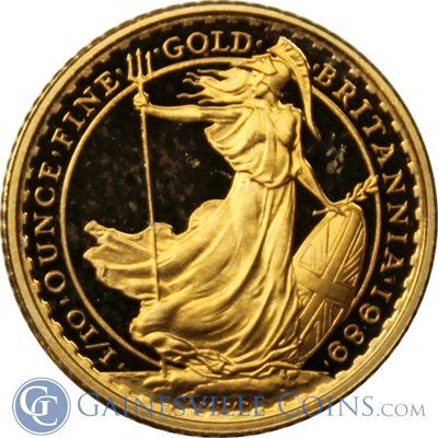 1989 1 10 Oz Royal Mint Proof Gold Britannia Gold And Silver Coins Gold Coins Gold Bullion Coins