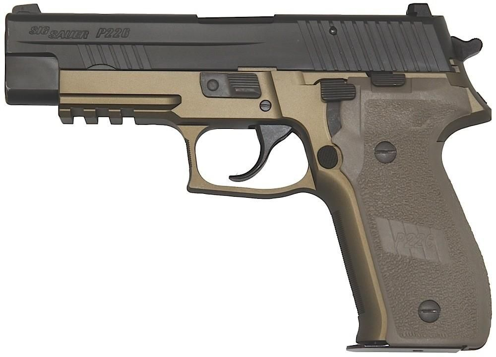"Wallpaper Pistols Sig Sauer P226 Army: SIG Sauer P226 Combat 9mm 4.4"" Dark Earth NS 2-15 Rd Mags"