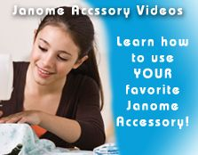 Janome - Learning Center. Lots of tips and videos on using Janome machines, sewing projects to get you started and tips and techniques!  Janome....the place to be- the machine to have!