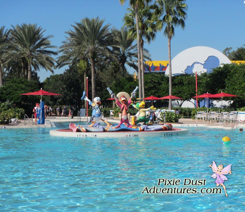 Disney's AllStar Music Resort, main pool. Melissa Pixie