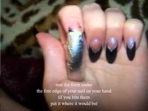 Diy nail forms for acrylic nails home made nail form youtube home made nail form solutioingenieria Choice Image