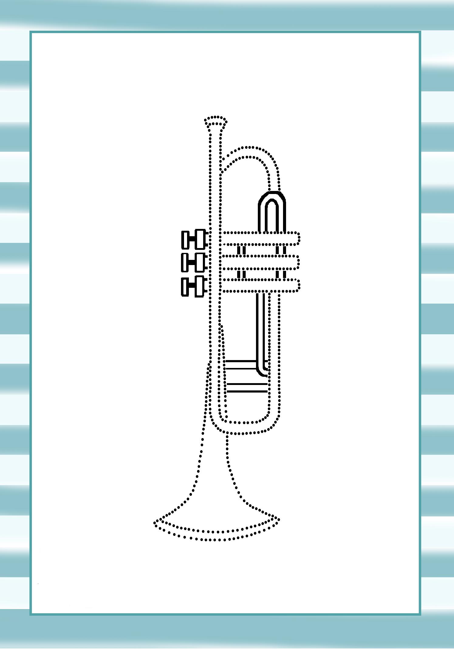 Actividad De Dibujo Para Peques Para Conocer Uno De Los Instrumentos De Viento Metal Mas Sonoros Y Br Instrumentos De Viento Educacion Musical Fichas De Musica