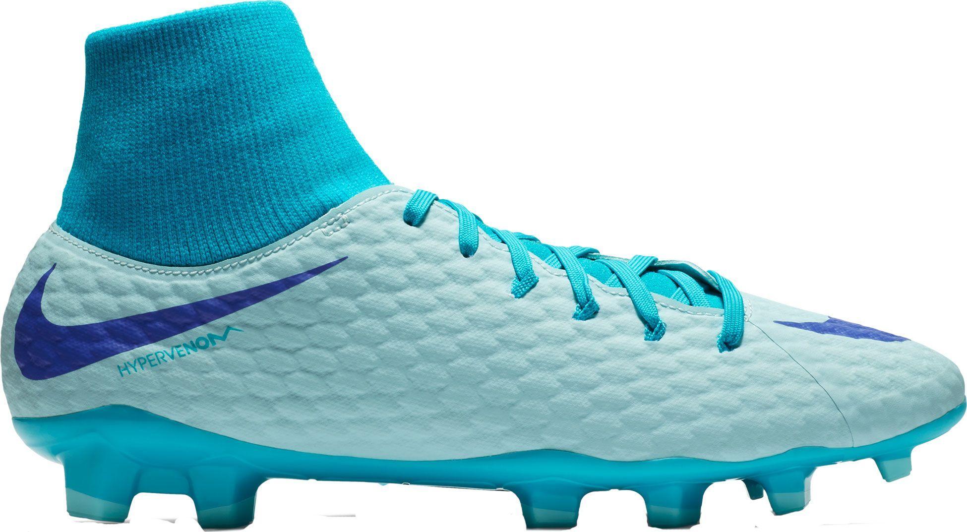 c0d97ce9a84b Nike Hypervenom Phantom 3 Academy Dynamic Fit FG Soccer Cleats, Women's,  Size: M9.5/W11, Blue
