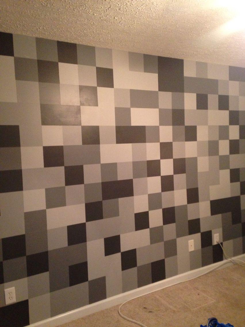 Minecraft Cobblestone Bedroom Wall