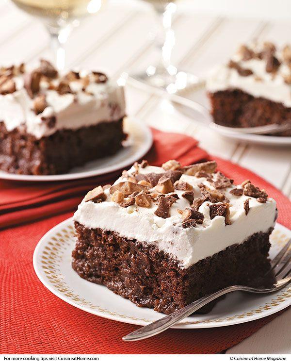 Caramel-Soaked Chocolate Cake | Cuisine at home eRecipes
