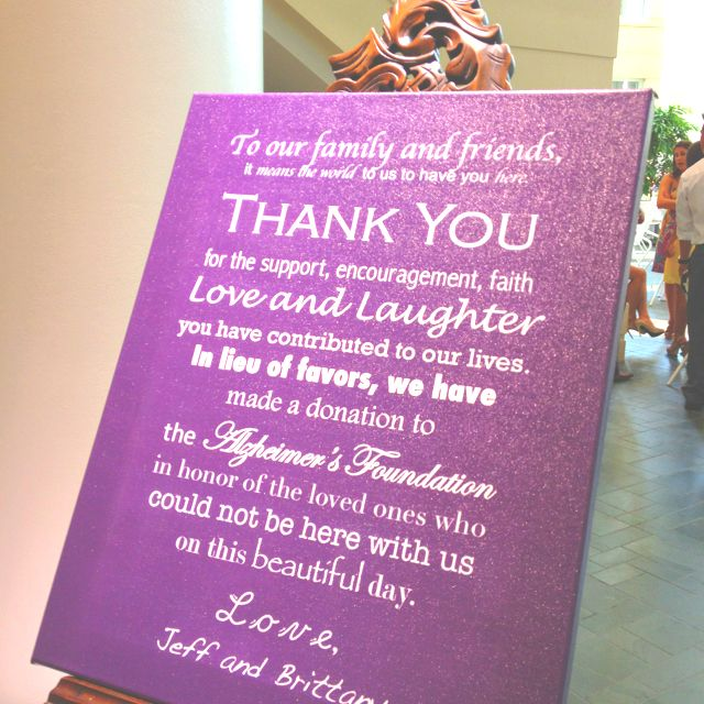 Make A Donation To Charity Instead Of Wedding Favors