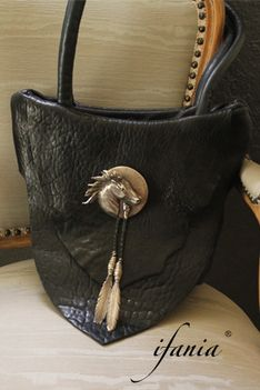Sheep Leather Handbag With Stunning Heirloom Sterling Horse Bolo By Santa Fe New Mexico Sculptor Stan Bentall Made In 1986 Ifaniadesigns