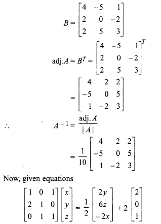 Rbse Solutions For Class 12 Maths Chapter 5 Inverse Of A Matrix And Linear Equations Ex 5 2 Rbsesolutions Rbsesol Class 12 Maths 12th Maths Linear Equations