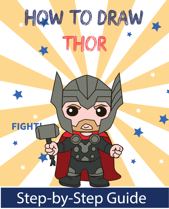 Learn How To Draw Thor For Kids A Step By Step Guide For Kids To Learn How To Draw All Of Their Favorite Superheroes Howtodraw With Images Drawing Superheroes Drawings