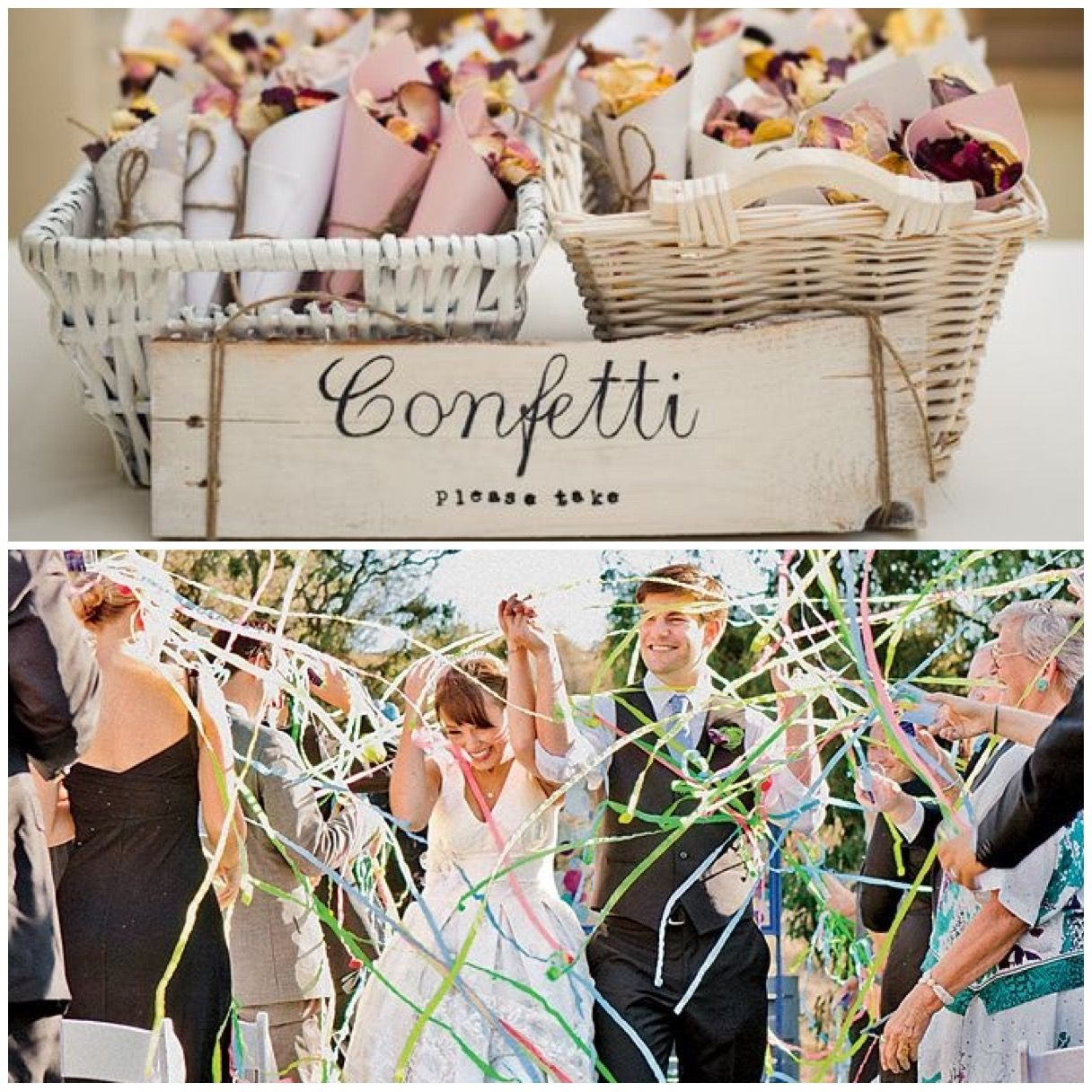 Whether It's Confetti Or Streamers, Try A Fun Exit Toss