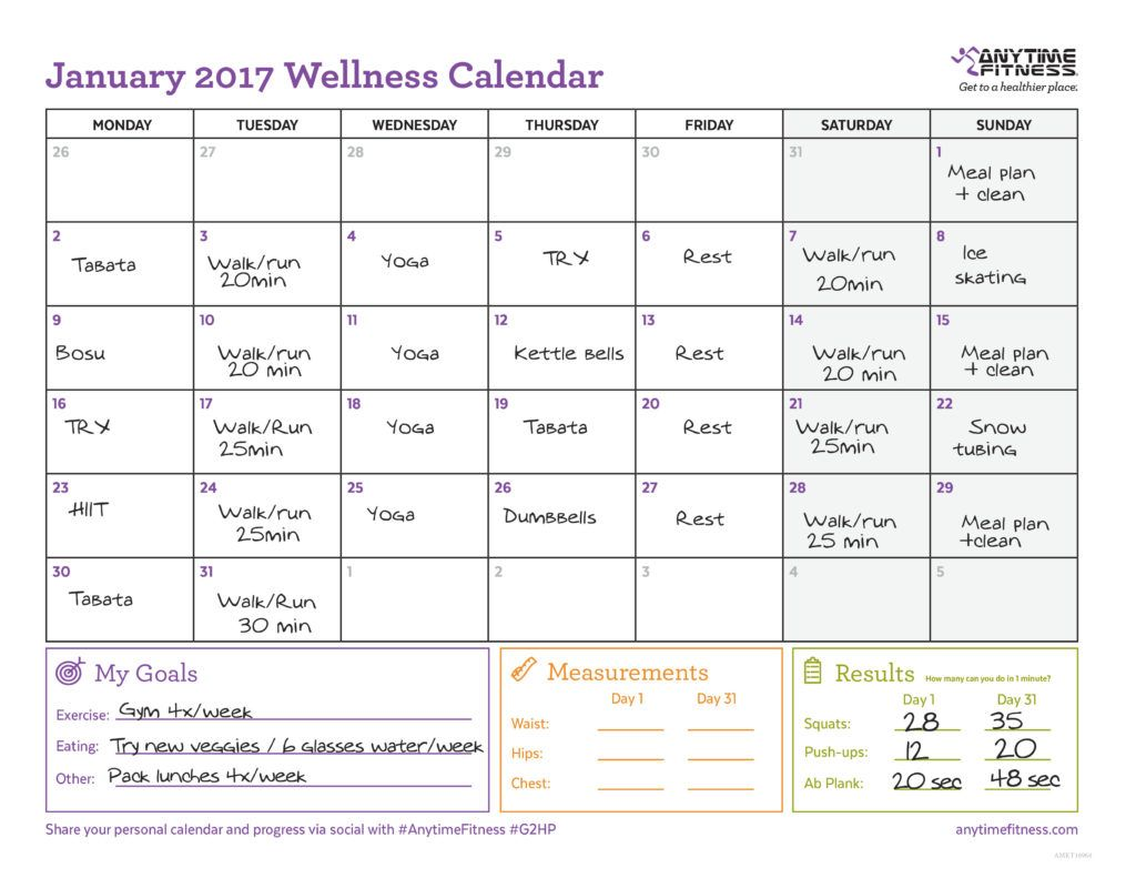 Example January Calendar   To Do List    January