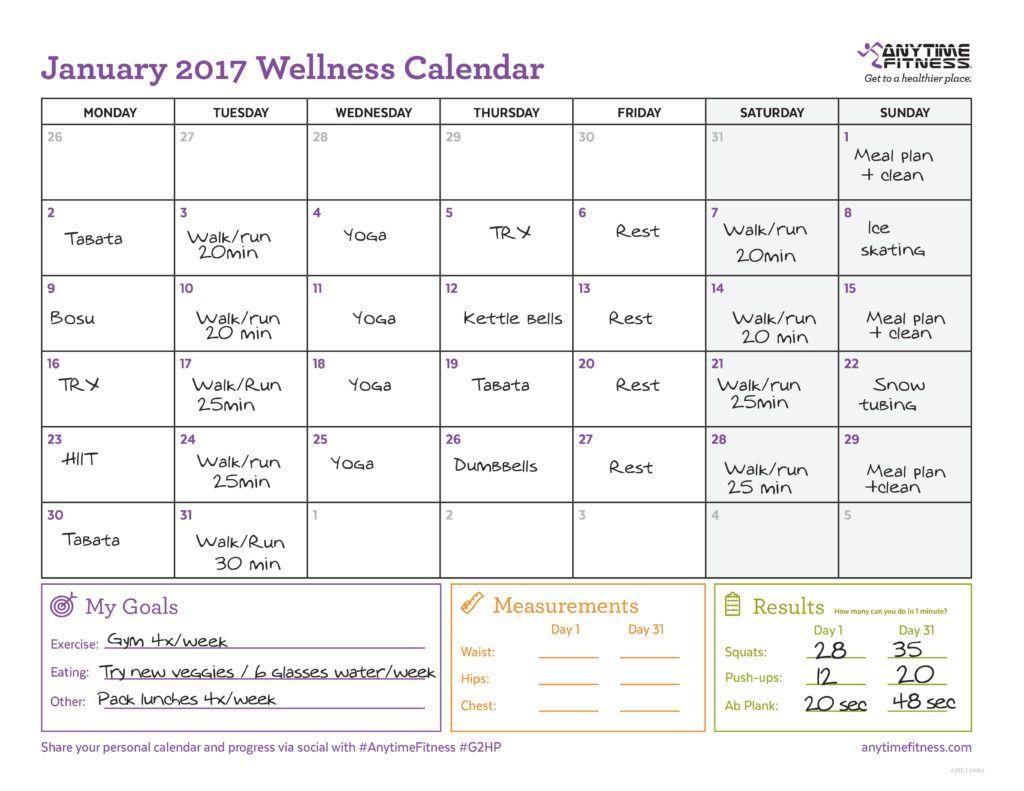 Example January Calendar | 2017 To Do List | Pinterest | January