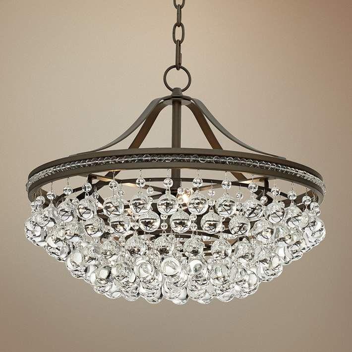Wohlfurst 20 1 4 W Bronze 5 Light Crystal Pendant Light 1k583