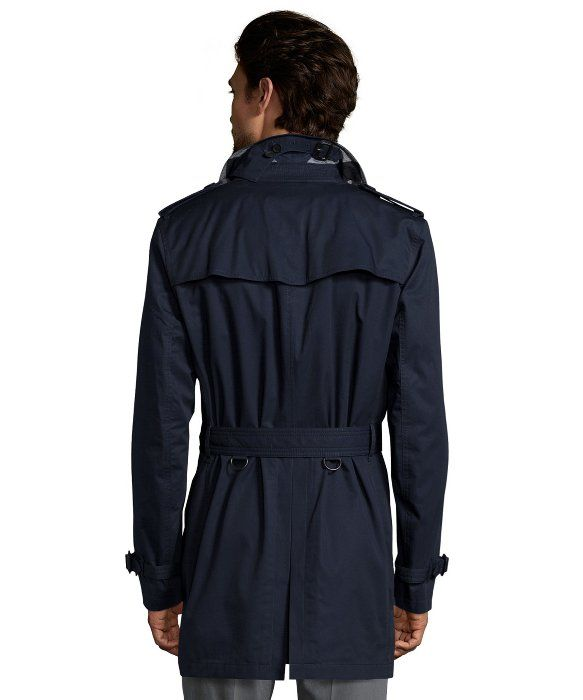 BURBERRY Burberry Brit Ink Cotton Twill 'Kensington' Warmer Trench. #burberry #cloth #apparel
