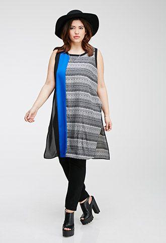 Tribal Print High-Slit Dress | Forever 21 PLUS | #f21plus
