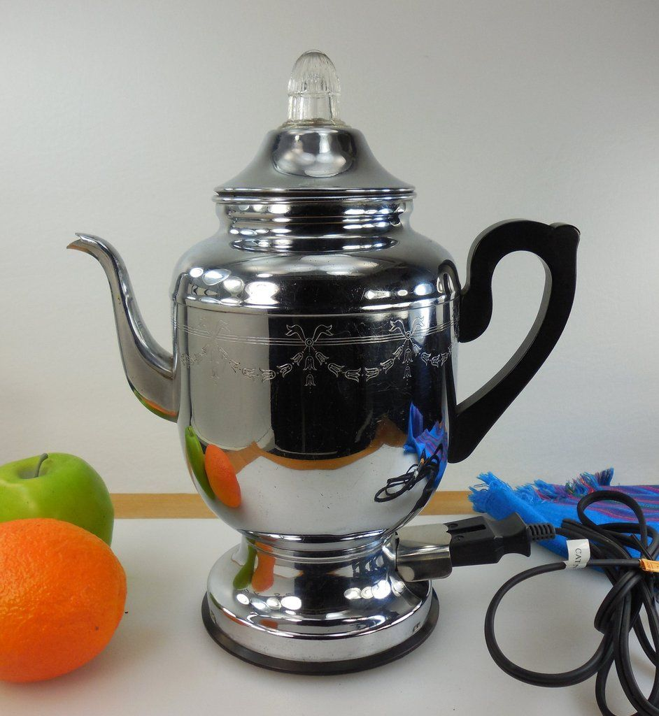 SOLD.... Farberware Chrome Super Speed Coffee Percolator