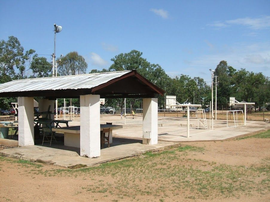 Foursquare and basketball courts outdoor structures