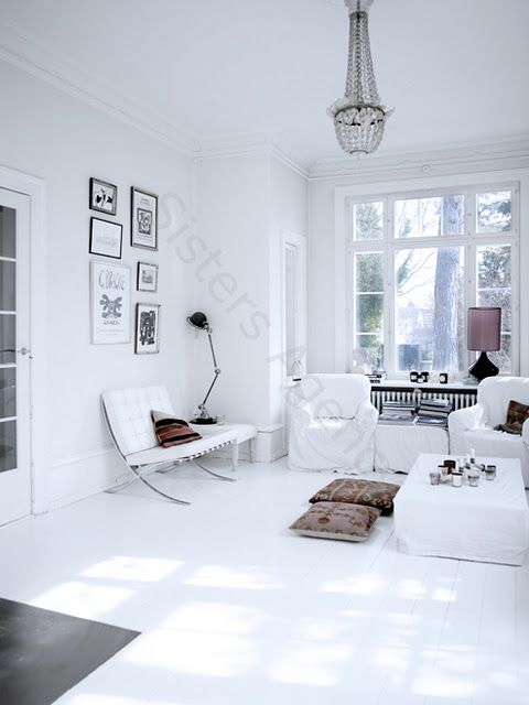 I love the proportion of the size of accessories to the space...minimalist in a way but also eclectic and interesting.