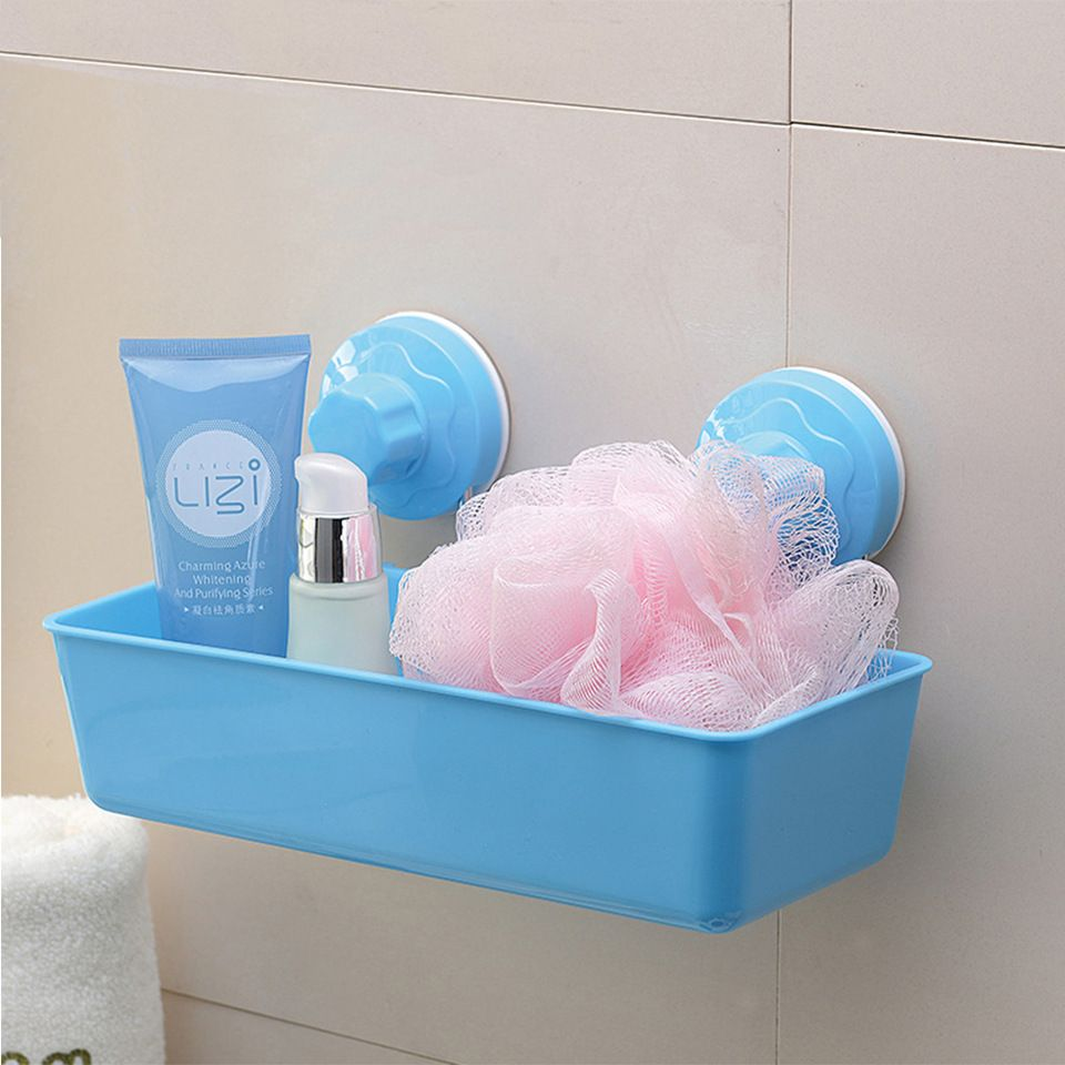 Online shopping home style suction cup bathroom plastic storage rack ...