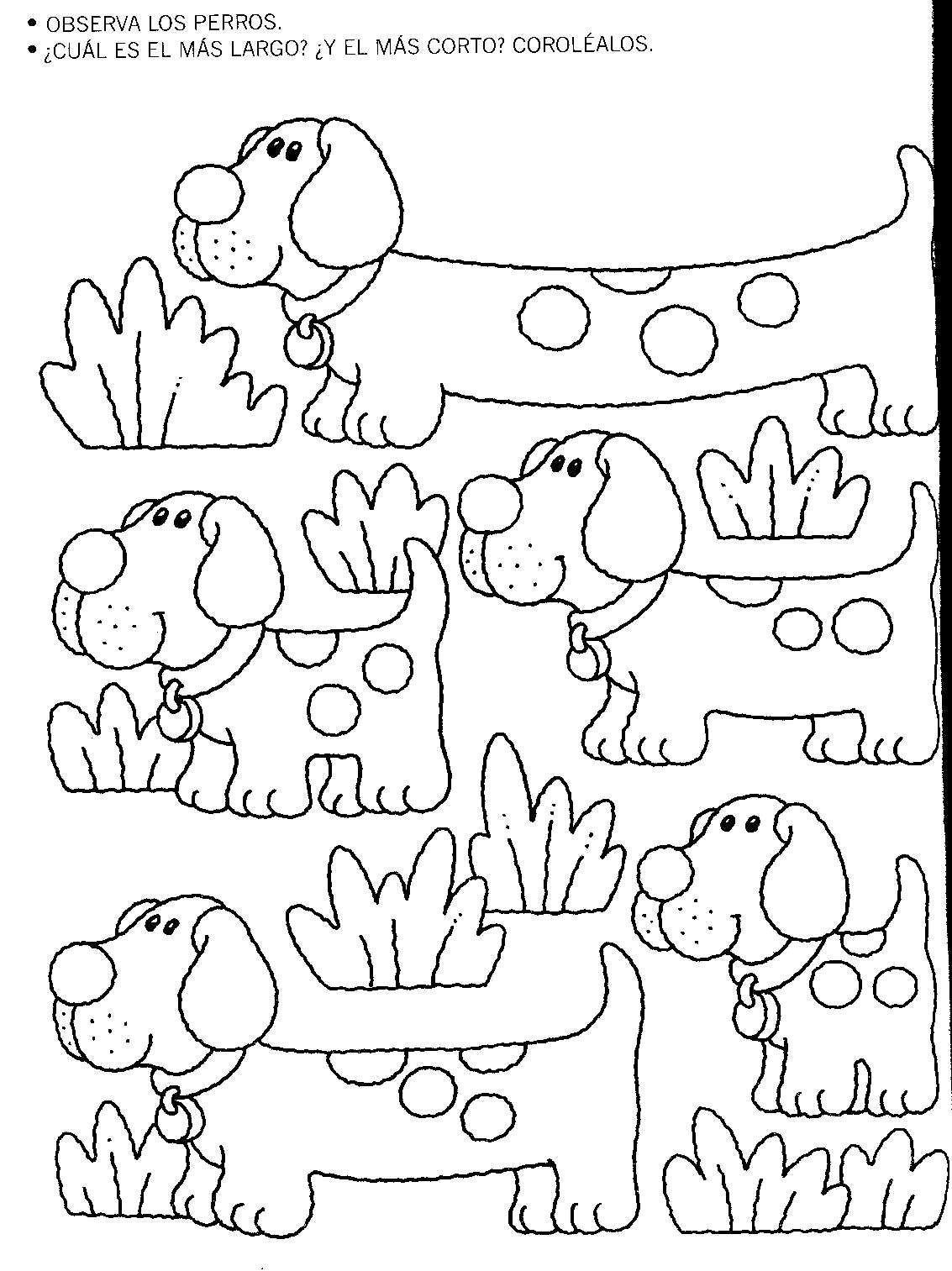 Resultado de imagen para dibujos largos y cortos para colorear ...