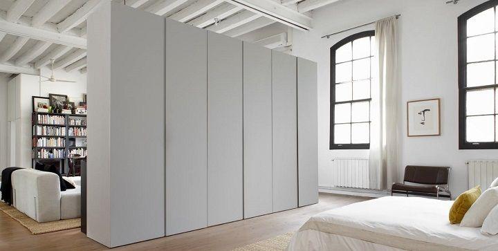 Armarios separadores decoracion loft armarios - Armarios espacios pequenos ...
