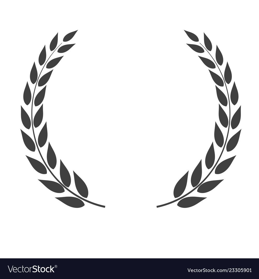 Laurel Wreath Vector Shape Isolated On White Background Download A Free Preview Or High Quality Adobe Illustrator Laurel Wreath White Background Vector Shapes
