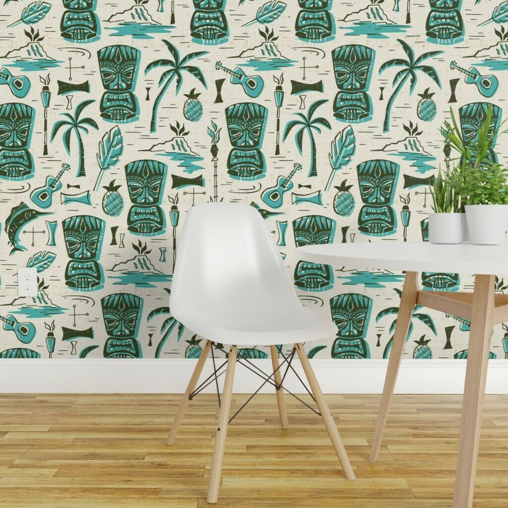 Removable WaterActivated Wallpaper Mid Century Modern