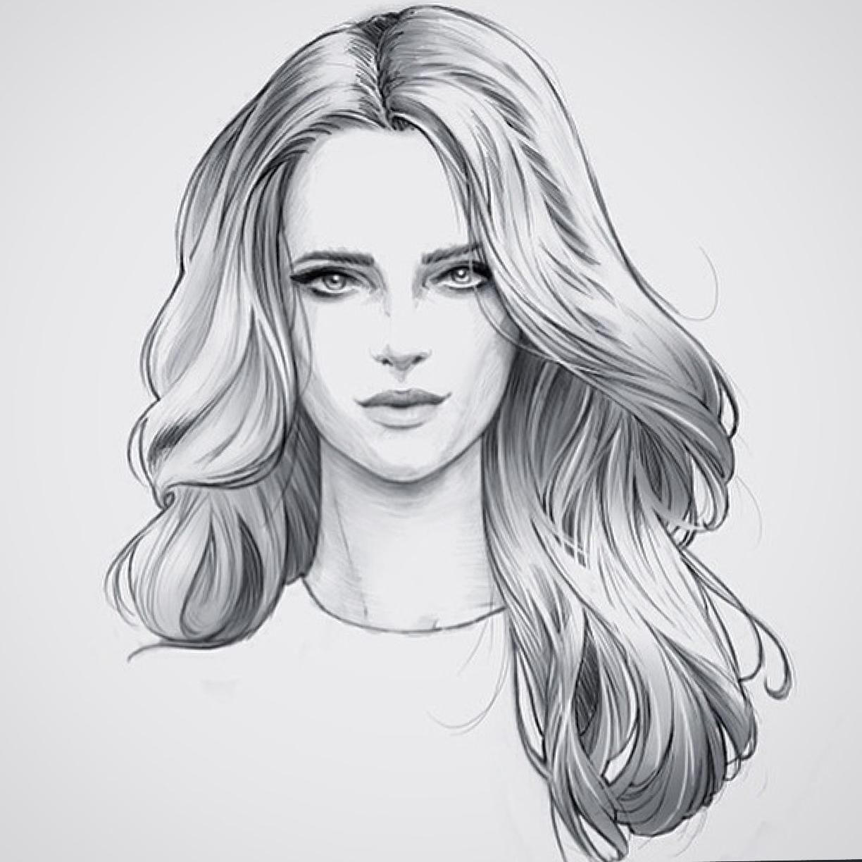 hair - female sketch design en