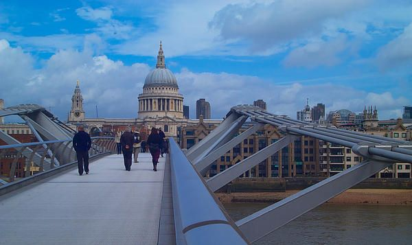 St Pauls Cathedral from the Millennium Bridge photograph by John Colley http://fineartamerica.com/featured/st-pauls-and-the-millennium-bridge-john-colley.html