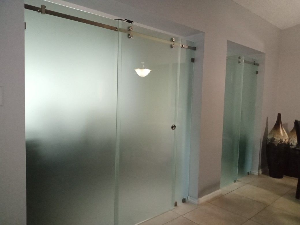 Slider Frameless Doors And Divisions Miami Glass Shower