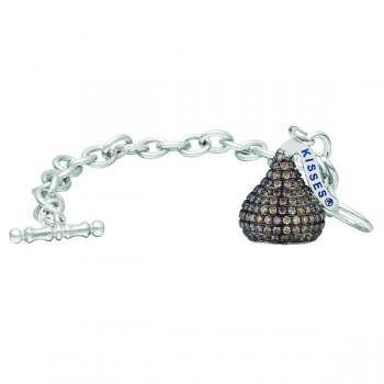 992ef2e5997d1 Hershey's Kiss Chocolate Diamond Toggle Bracelet 14k White Gold ...