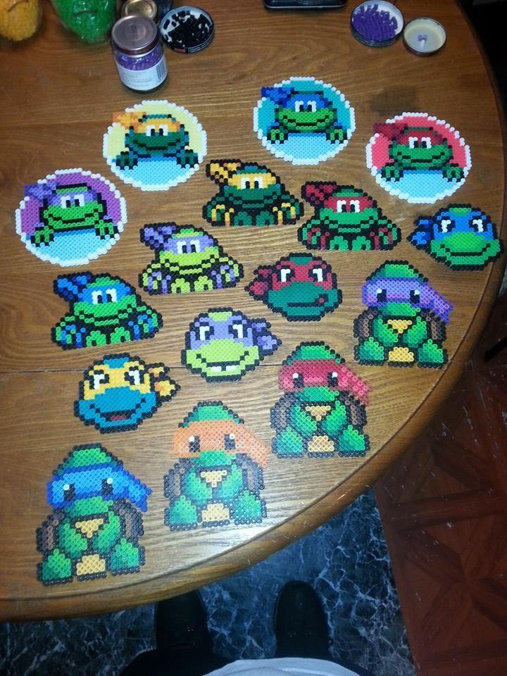 TMNT Ninja Turtles perler beads by karintel on deviantART | Hama ...