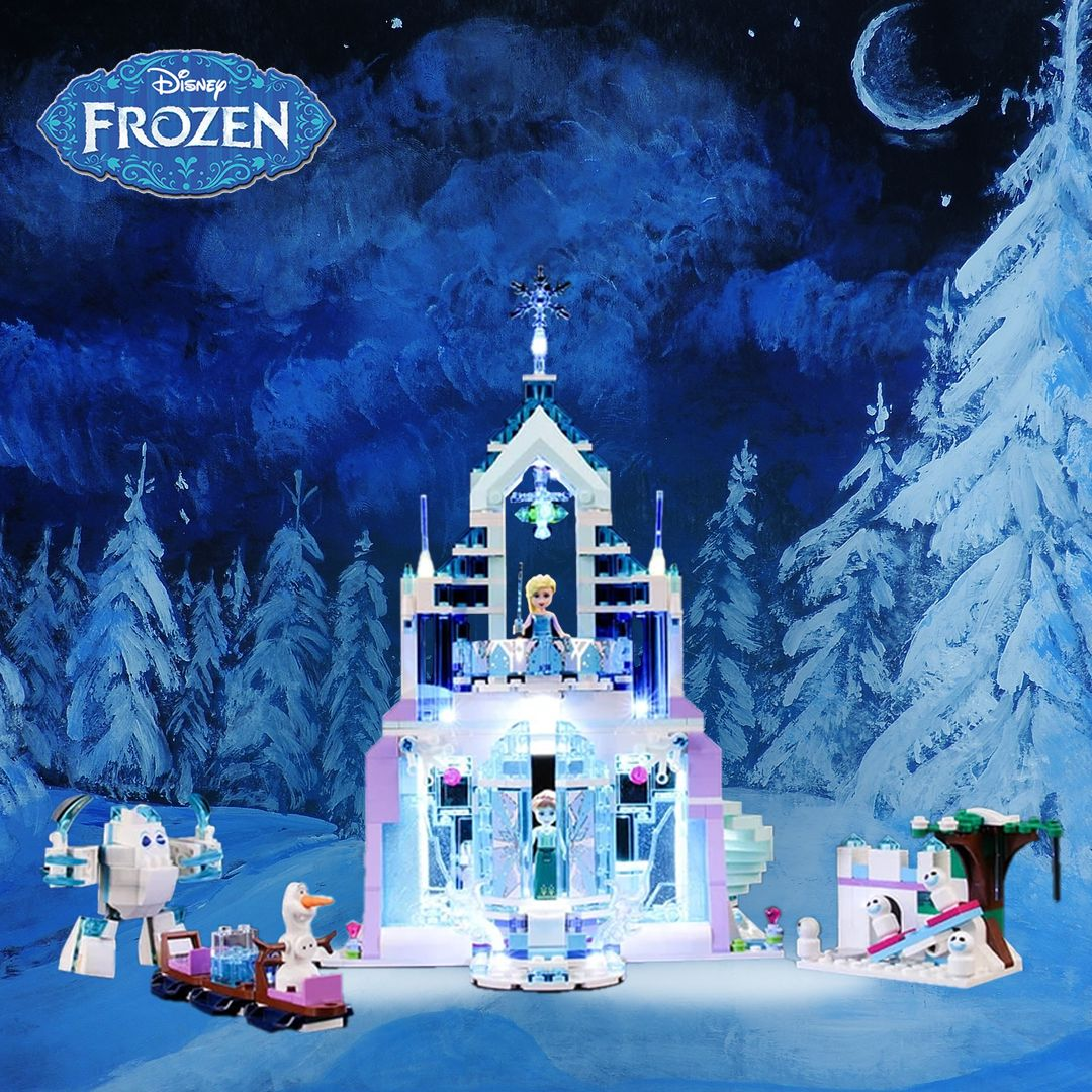 Light Kit For Frozen Elsa's Magical Ice Palace 41148 In