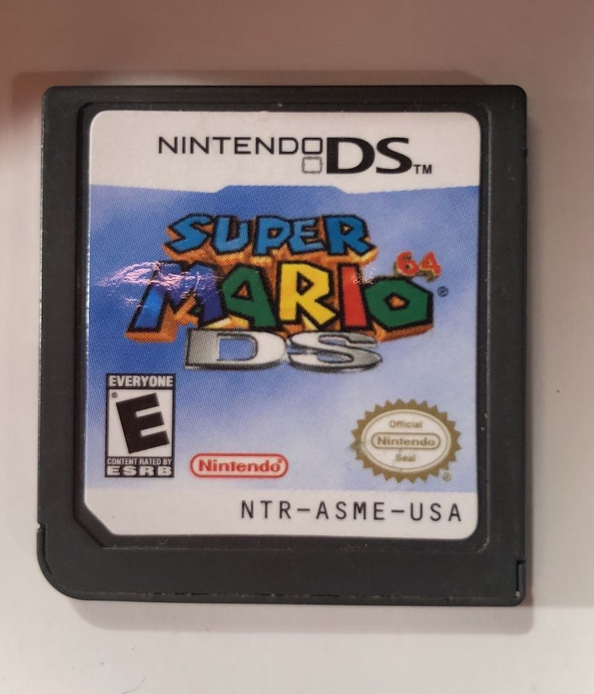 Super Mario 64 Ds Nintendo 2004 Game Cartridge Ntr 005 Ebay Used Video Games Nintendo Ds Super Mario Ds