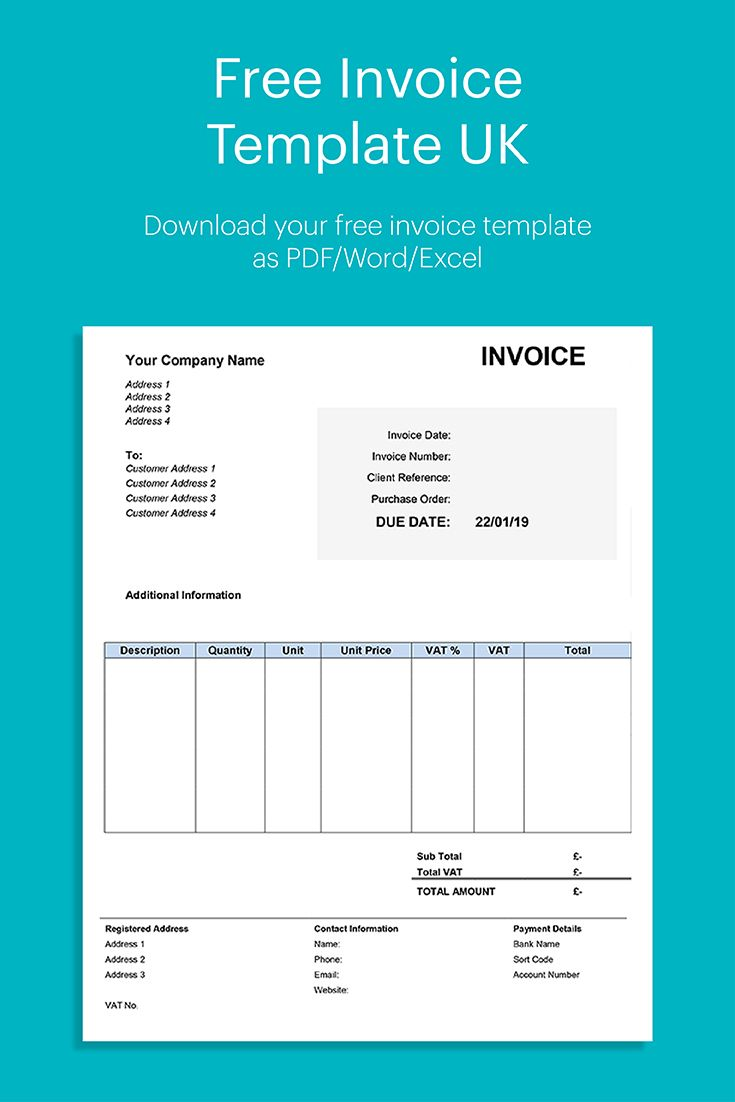 Free Invoice Template Uk Invoice Template Quote Template Invoicing Software