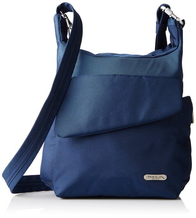 Details about Travelon Classic Anti Theft Carry Safe Messenger Bag BlackBlue BRAND NEW