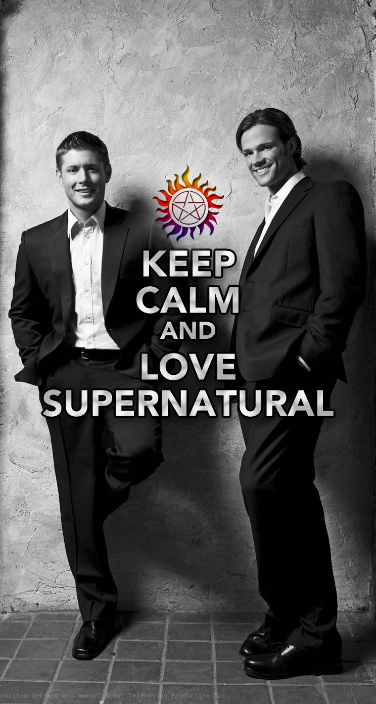 Keep Calm and Love Supernatural iPhone 5 wallpaper