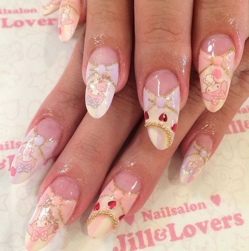 My Melody Nail Art Kawaii Nails Nail Art Nails