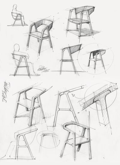 chair design drawing. A-CHAIR By Thomas Feichtner Chair Design Drawing U