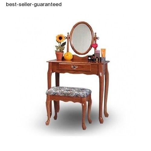 Deco Vanity Table Mirror Stool Set Makeup Ladies Furniture Dresser Bed Room Desk #Unbranded #Traditional