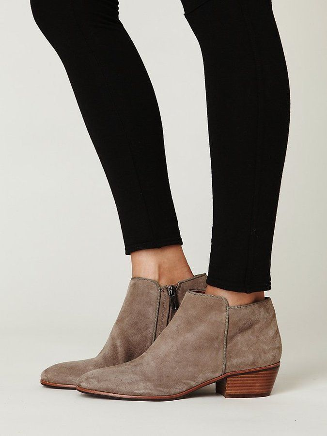 b155808ea76ca0 ... I wear these semi-regularly. Sam Edelman Boots (Ladies Beige Suede  Petty Ankle Booties
