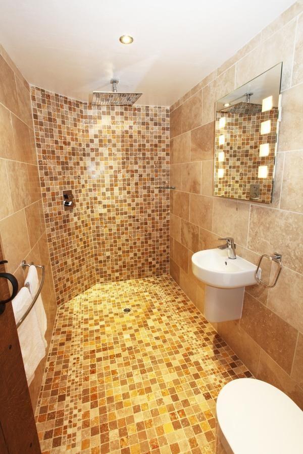 Wet Room Design Ideas Mosaic Tiles Bathroom Decoration Wall Mirror
