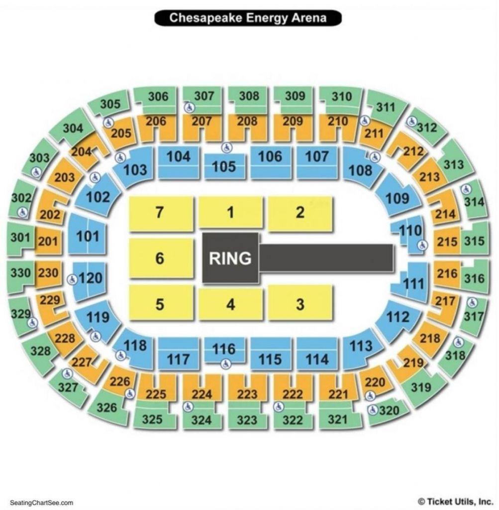 Chesapeake Seating Chart Chesapeake Chesapeake Arena Chesapeake Energy Arena